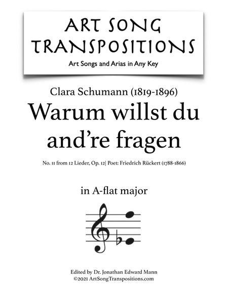 Warum willst du and're fragen, Op. 12 no. 11 (A-flat major)