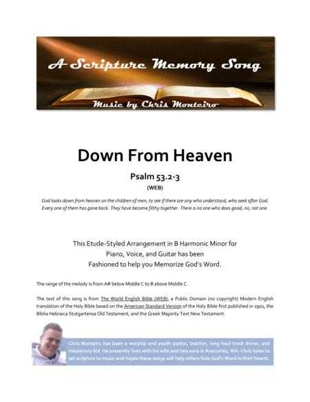 Down From Heaven (Psalm 53.2-3 WEB)