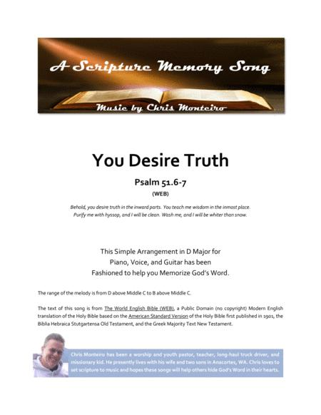 You Desire Truth (Psalm 51.6-7 WEB)