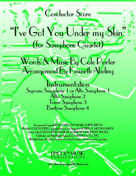 I've Got You Under My Skin (for Saxophone Quartet SATB or AATB)