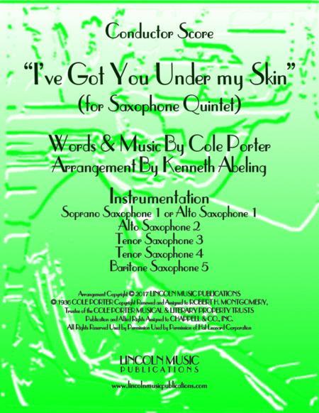 I've Got You Under My Skin (for Saxophone Quintet SATTB or AATTB)