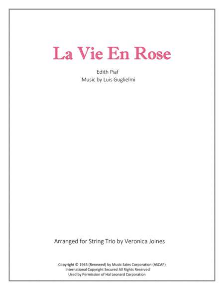 La Vie En Rose for String Trio (with optional Violin 2 part)