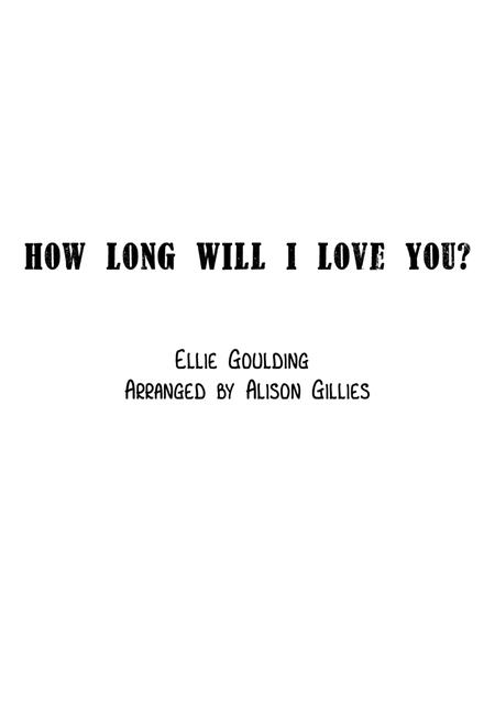 How Long Will I Love You - String Duo (vln/vc)