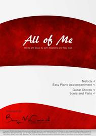 Download All Of Me - Melody With Chords And Easy Piano Accomp  Sheet