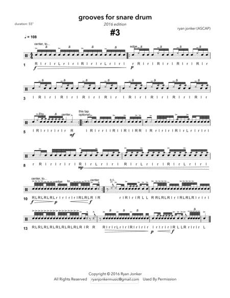Groove #3 for Snare Drum