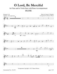 O Lord, Be Merciful (Flute and/or Violin Duet with Piano Accompaniment)