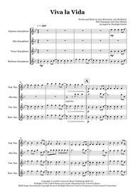 Viva La Vida by Coldplay - Saxophone quartet (SATB)