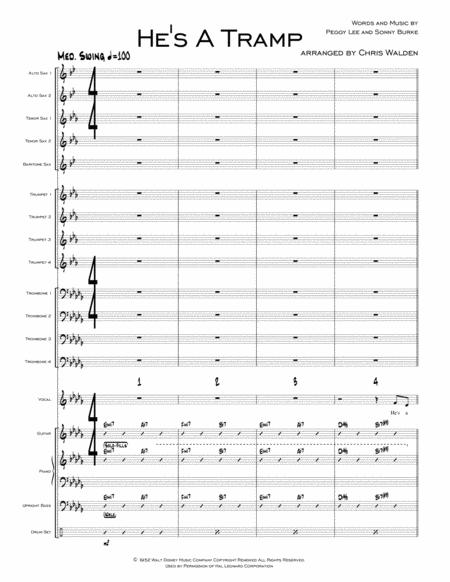 He 039 S A Tramp From Lady And The Tramp By Digital Sheet Music For Score Set Of Parts Download Print H0 210217 316200 Sheet Music Plus