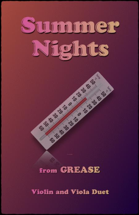 """summer nights, from """"grease"""", violin and viola duet by olivia  newton-john - digital sheet music for score - download & print  h0.210275-792830 