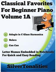 Classical Favorites for Beginner Piano Volume 1 A Sheet Music
