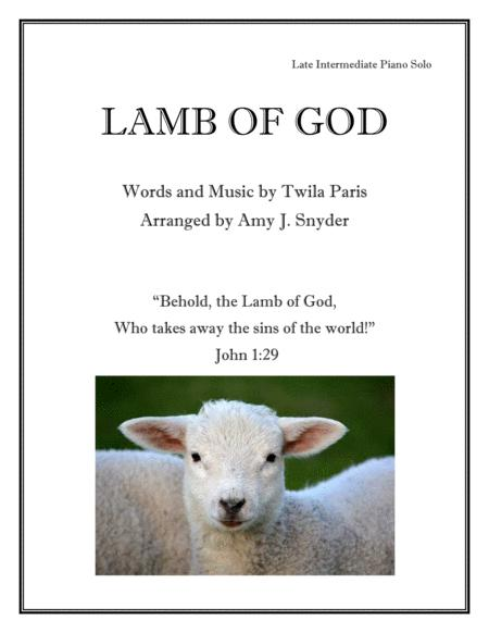 Lamb Of God, piano solo