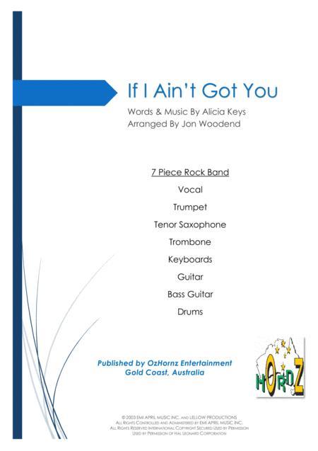 If I Ain't Got You - 7 Piece Horn Chart