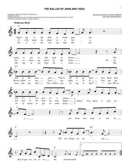 The Ballad Of John And Yoko