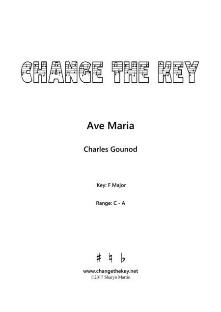 Ave Maria - F Major