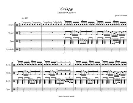 download crispy drumline cadence sheet music by jason guzman