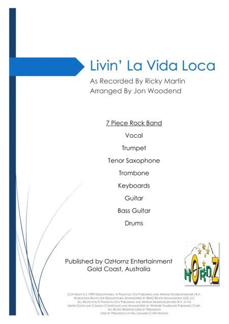 Livin' La Vida Loca - 7 Piece Horn Chart