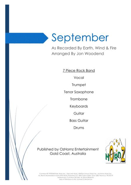 September - 7 Piece Horn Chart
