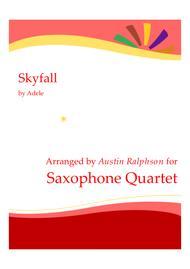 Skyfall - sax quartet