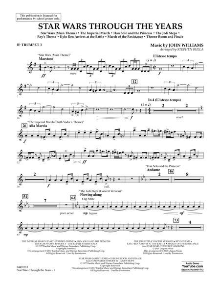 Star Wars Through the Years - Bb Trumpet 3
