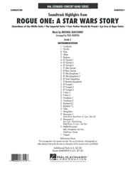 Rogue One: A Star Wars Story - Conductor Score (Full Score)