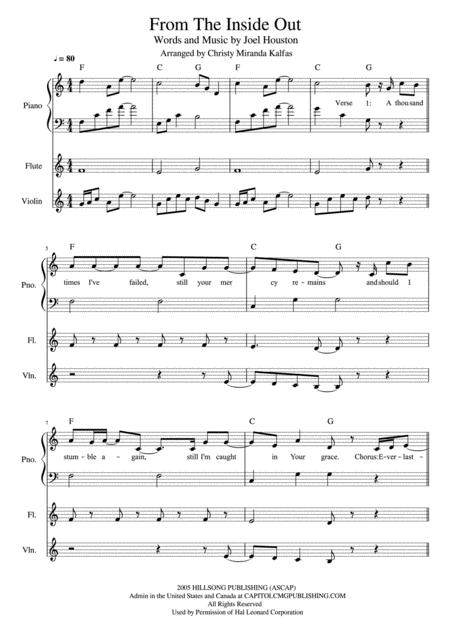 Download From The Inside Out - Flute/Violin/Piano/Chords Sheet Music ...