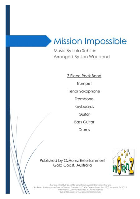 Mission: Impossible Theme  from the Paramount Television Series MISSION: IMPOSSIBLE - 7 Piece Horn Chart