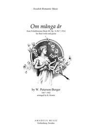 Om många år from Frösöblomster III for flute or violin and guitar