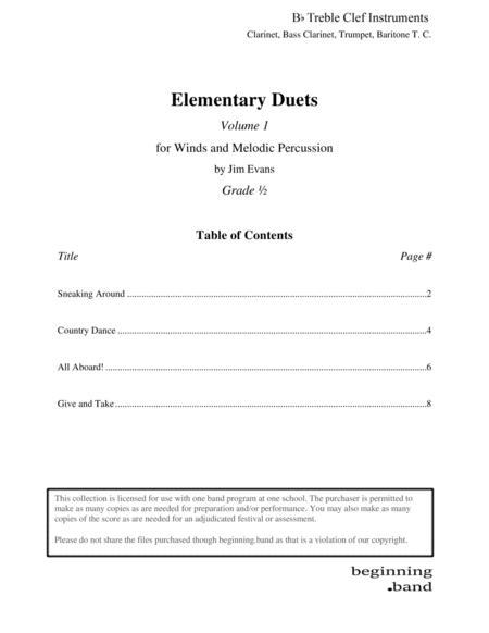 Elementary Duets, Volume 1, for Clarinet, Bass Clarinet, Trumpet, and Baritone T. C.