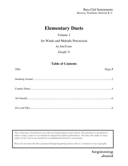 Elementary Duets, Volume 1, for Bassoon, Trombone, and Baritone B. C.