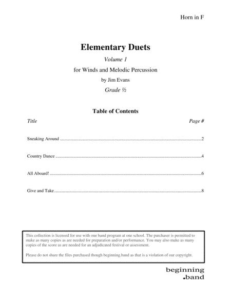 Elementary Duets, Volume 1, for Horn in F
