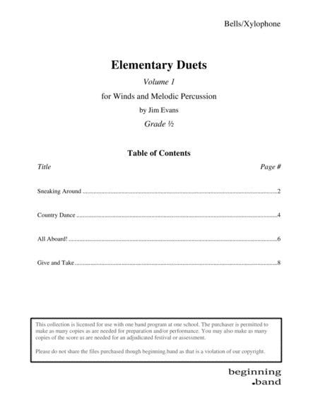 Elementary Duets, Volume 1, for Bells/Xylophone