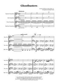Ghostbusters by Ray Parker Jr. - Saxophone quartet (SATB)