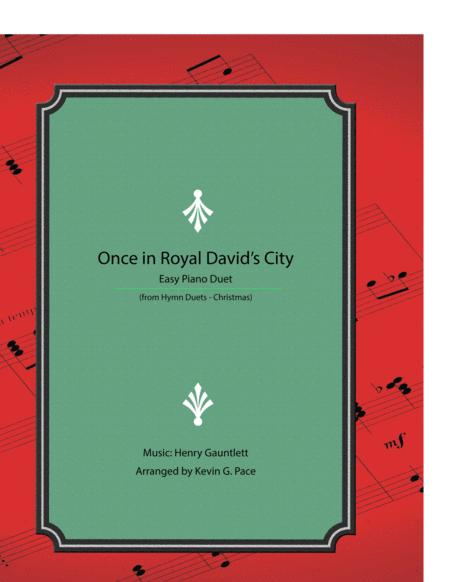Once in Royal David's City - easy piano duet