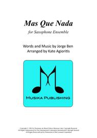 Mas Que Nada - for Saxophone Ensemble