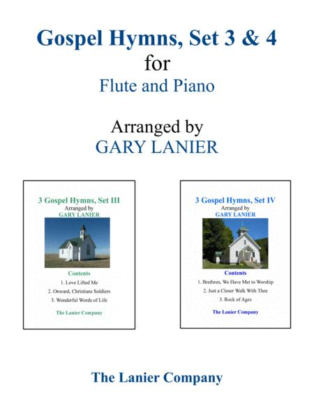 GOSPEL HYMNS, Set III & IV (Duets - Flute and Piano with Parts)