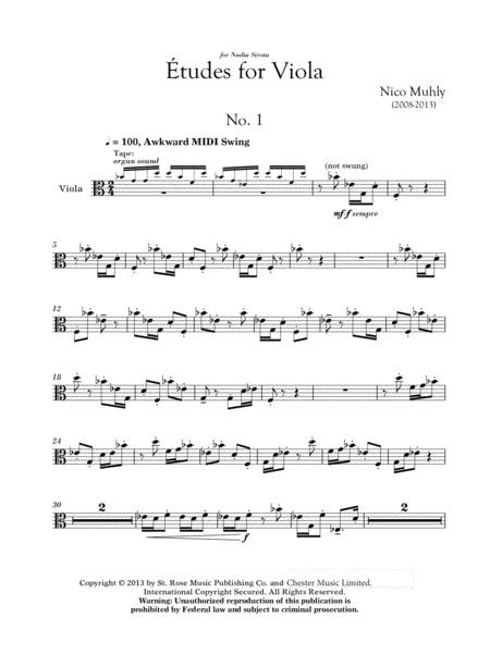 Three Etudes For Viola
