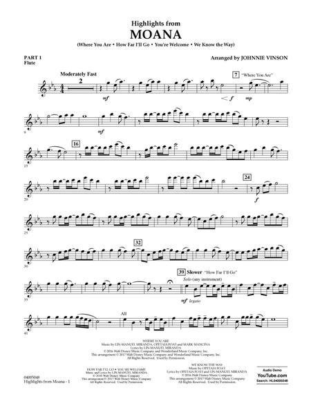 Highlights from Moana - Pt.1 - Flute