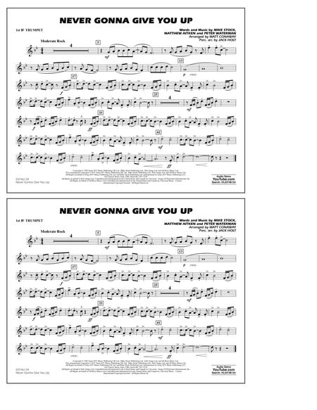Never Gonna Give You Up - 1st Bb Trumpet