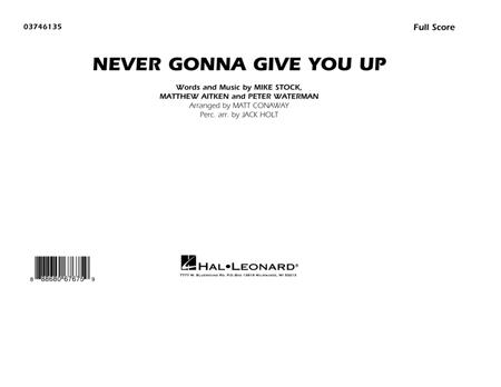 Never Gonna Give You Up - Conductor Score (Full Score)
