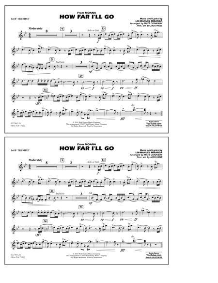 How Far I'll Go (from Moana) - 1st Bb Trumpet