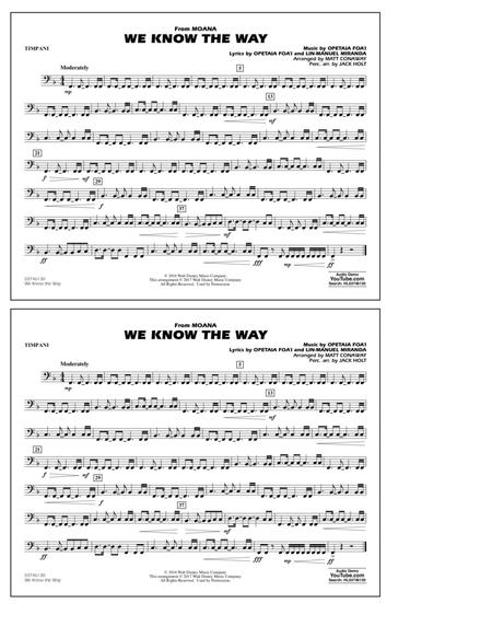 We Know the Way (from Moana) - Timpani