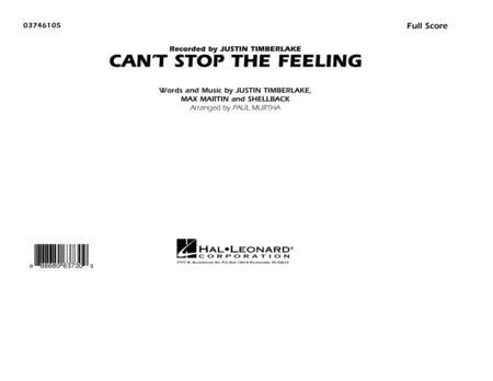 Can't Stop the Feeling (from Trolls) - Conductor Score (Full Score)