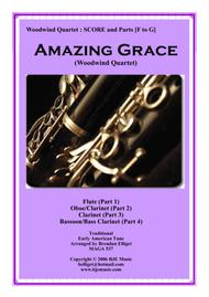 Amazing Grace - Woodwind Quartet - Score and Parts