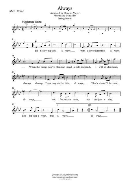 Always (medium voice and string quartet)