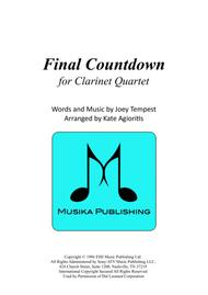 Final Countdown - for Clarinet Quartet