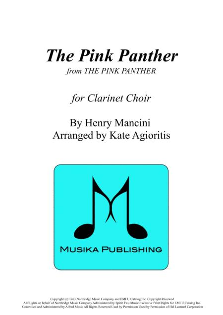 The Pink Panther - for Clarinet Choir