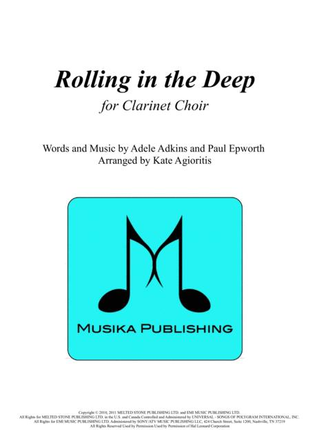 Rolling In The Deep - for Clarinet Choir