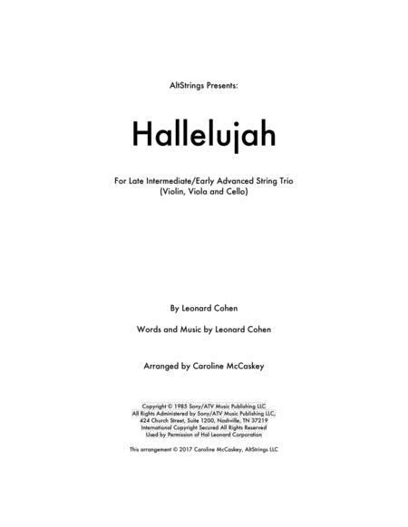 Hallelujah - String Trio (Violin, Viola and Cello)
