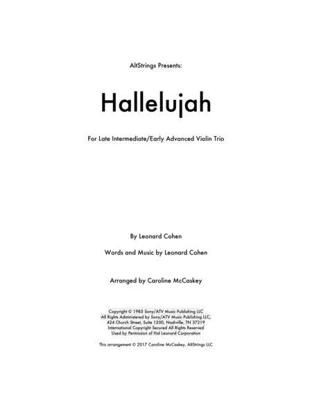Hallelujah - Violin Trio