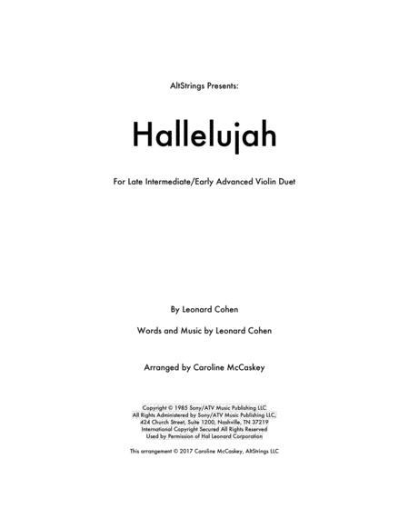 Hallelujah - Violin Duet